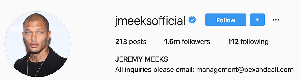 @jmeeksofficial top instagram models