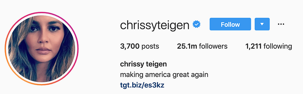 @chrissyteigen top instagram models