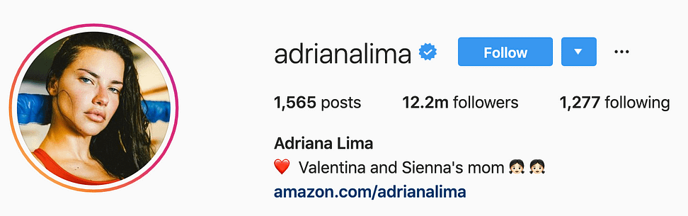 @adrianalima top instagram models