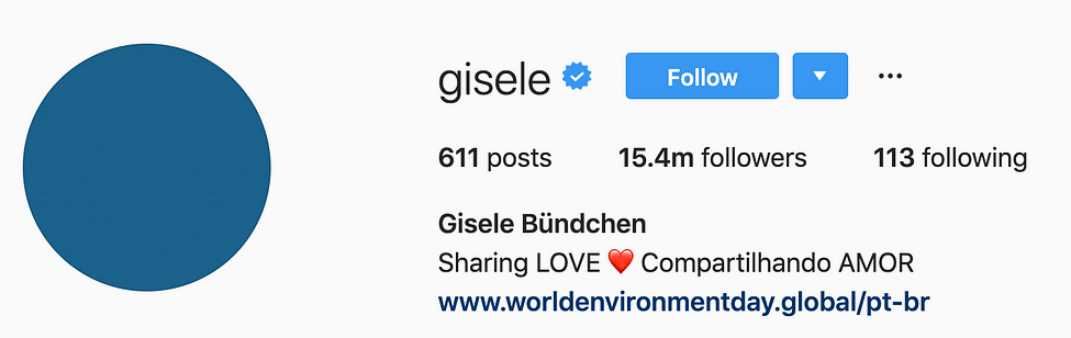 @gisele top instagram models