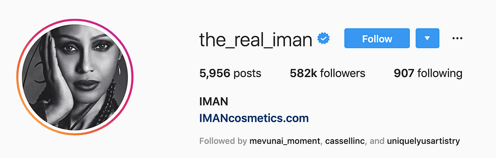 @the_real_iman top instagram models