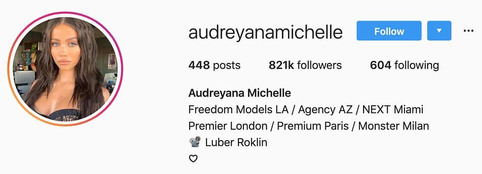 @audreyanamichelle instagram models