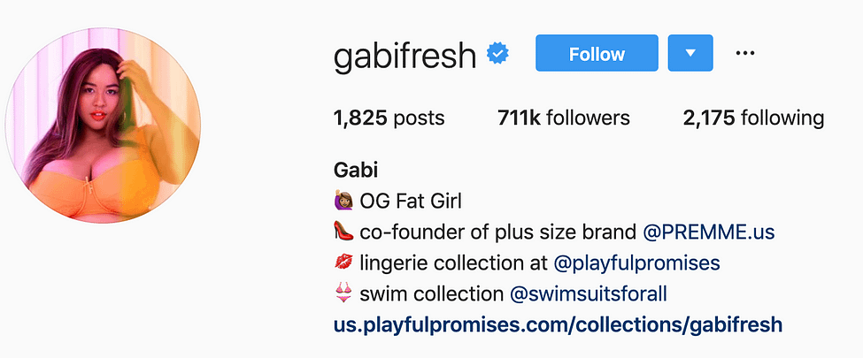 @gabifresh top instagram models